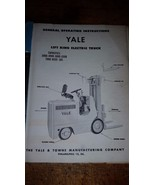 YALE Industrial Power Truck Forklift instructions and spare parts k51at-20 - $44.55