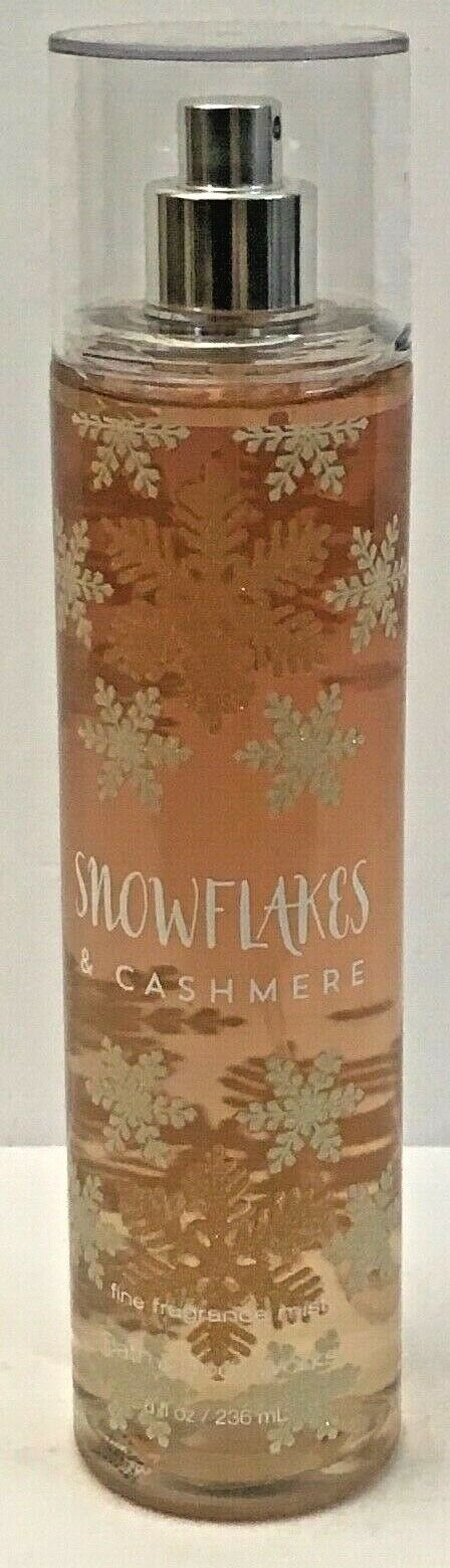 Primary image for 1 BOTTLE BATH & BODY WORKS SNOWFLAKES & CASHMERE FRAGRANCE MIST BODY SPRAY 8oz