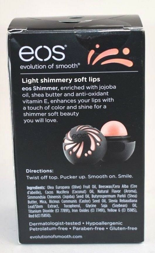 EOS Evolution of Smooth Shimmer Lip Balm Sphere Coral .25 oz.