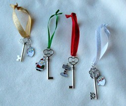 SILVER SANTA'S MAGIC KEY - for houses without a Chimney - Hand Made - $3.00