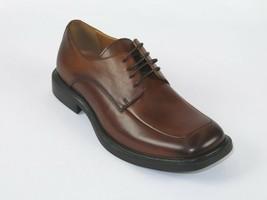 Kenneth Cole Mens shoes Leather Mock Toe Square Lace up Merge Cognac KM25609LE  - $104.99