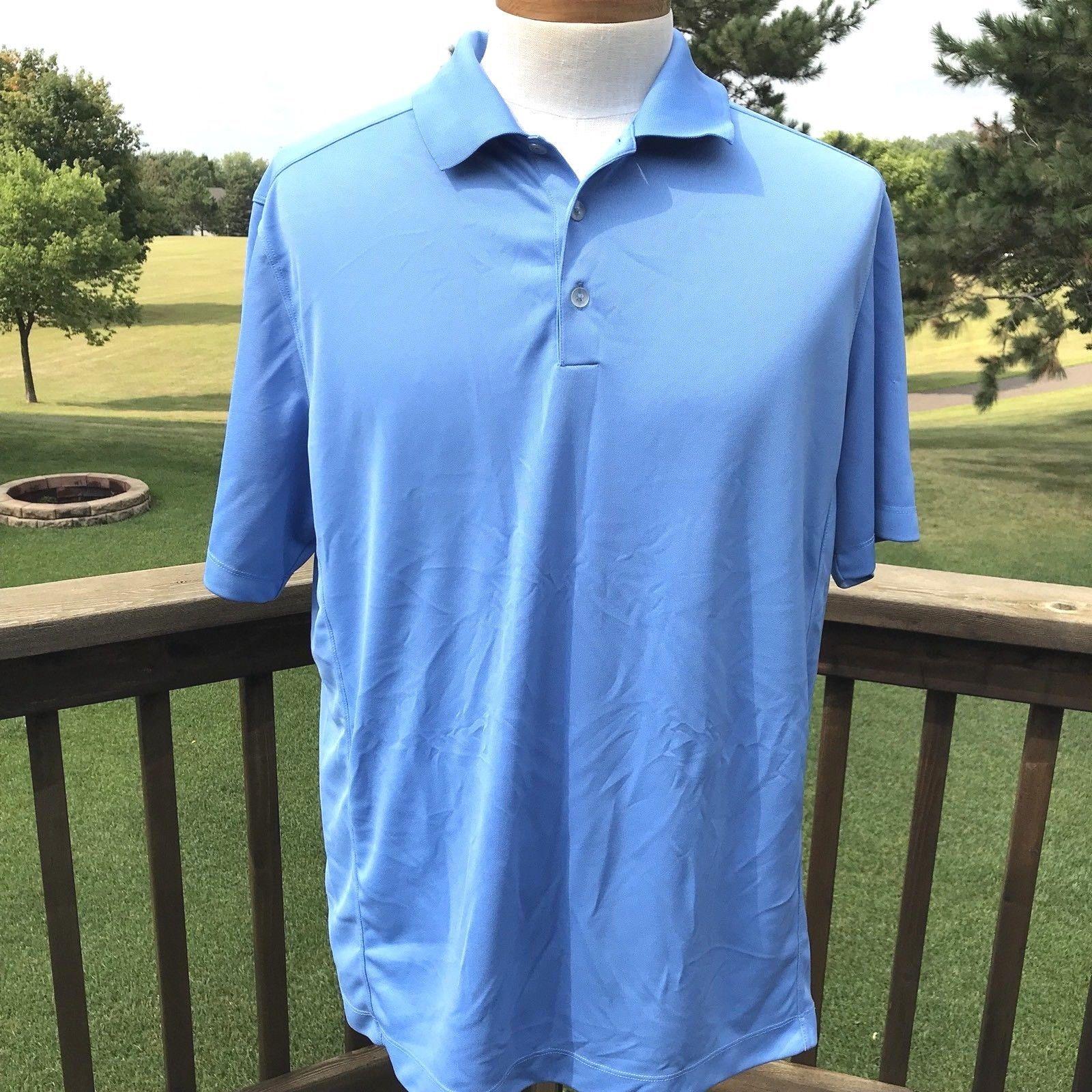 d33f4edf3 Nike Golf Dri-Fit Mens Polo Shirt Size XL Blue Stretch Short Sleeve Athletic  EUC