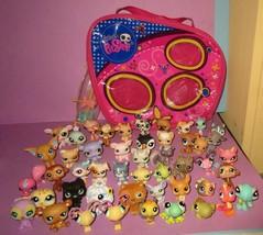 Huge Littlest Pet Shop LPS Dog Puppy Cat Bear Pig Bird Bug Carry Case 45... - $1.590,89 MXN