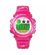 Kids Digital Sport Watch for Boys Girls, Kid Waterproof Electronic (Rose... - $17.53