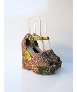 Wedge Platform Sandals ASOS Hamilton Peacock Print Wedges UK5 US7 NWOB -... - $73.26
