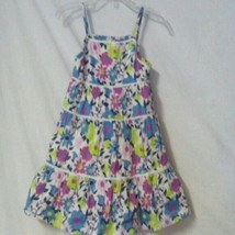 Old Navy Size 12-18 Months Floral Ruffle Tiers Lined Girls Sundress Dress - $5.93