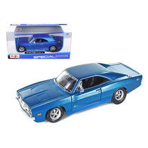 1969 Dodge Charger R/T Hemi Blue 1/25 Diecast Model Car by Maisto 31256bl - $29.91