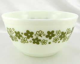 Pyrex 402 White Bowl Spring Blossom Vintage 1.5 Qt Serving ~ Made in the... - $21.95