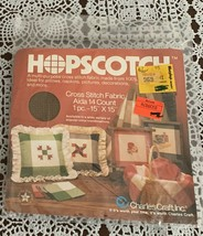 Brand New Charles Craft Aida Hopscoth Counted Cross Stitch Fabric Brown Shades - $7.99