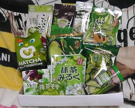 Japanese Candy chips snack Matcha Green Tea Sweets Pocky Cookies Set - $34.65