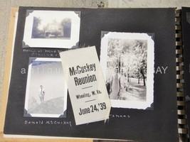 1939 antique McCUSKY McCOMBS FAMILY REUINION PHOTO ALBUM west virginia R... - $124.95
