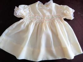 Vintage Childrens Dress fits Size 2-3 Toddler Doll Penny Playpal Yellow ... - $15.00