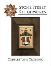 Cobblestone Crossing christmas cross stitch chart Stone Street Stitchworks  - $8.00