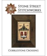 Cobblestone Crossing christmas cross stitch chart Stone Street Stitchworks  - $8.00