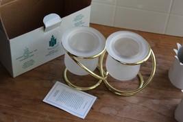 PARTYLITE Gold Gemini Interlocking Wedding Rings Party Light Candle Holder  - $10.89
