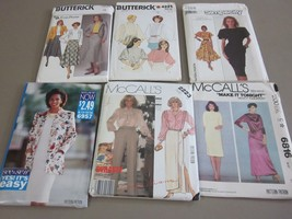 6 Pc Lot Misses Womens Size 12 Tops Dress Skirt Sewing Patterns - $1.75