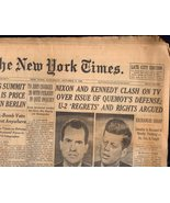 The New York Times  Saturday October 8, 1960 - $5.95