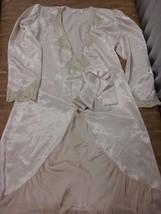Vintage VICTORIA'S SECRET Robe Tule Satin Lace Size S Soft Pink Shiny - $19.95