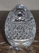 CRYSTAL CUT GLASS BACCARAT STYLE EGG PAPERWEIGHT FRANCE - $12.00