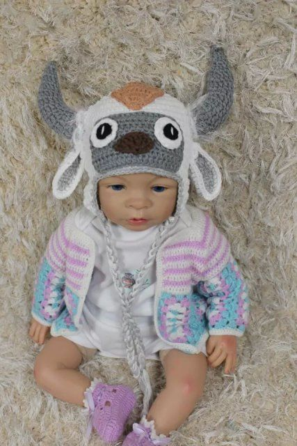 Knit Crochet Baby Child Kids Aang Appa Sky And 47 Similar Items