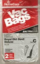 Royal Dirt Devil Deluxe Type C Vacuum Bags Home Care Vac 2 Pack No 28 - $2.99