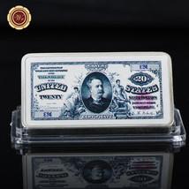 WR US 1891 $20 Silver Certificate Silver Dollar 1 Oz 999 Art Bar Antique... - $4.99