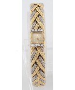 Blancpain Rayville Movement 17 Jewels Gold Platinum Diamond Bracelet Watch - $16,038.00