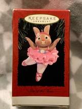 Vintage Hallmark Keepsake Star of the Show Ornament Pink Ballerina Bunny Rabbit - $13.03