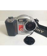 Sony Mavica MVC-CD350 3.2 MP Digital Camera - Black Silver - $18.52