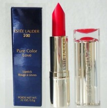 Estee Lauder Pure Color Love Lipstick 300 Hot Streak .12oz New Boxed - $9.85