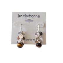 Liz Claiborne Semi-Precious Accents Pierced Earrings Sterling Silver Earwire New - $11.99