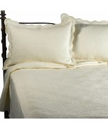 New Matelasse Coventry 2 Piece Twin Coverlet Set Ivory - $76.22