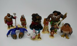Disney Store Moana Deluxe Figurine Playset Cake Topper - $18.69
