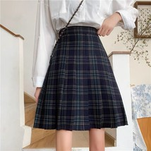 Lady Classic Wine Red Plaid Skirt Plus Size Pleated Plaid Skirt Christmas Outfit image 4