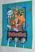 ToeJam & Earl Sega Genesis Fold Up Promo JAMMIN Poster UNUSED Sonic The ... - $13.78