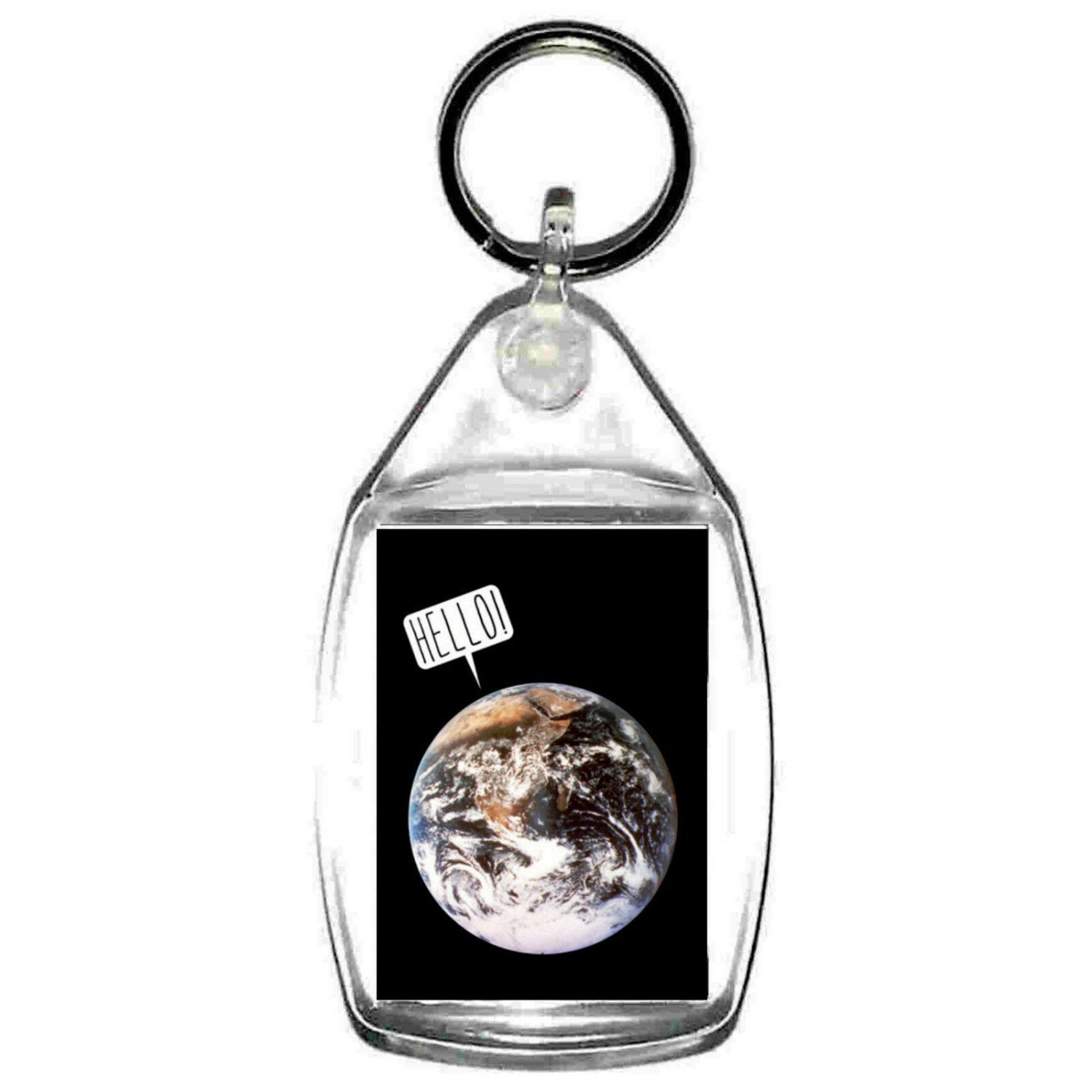 keyring double sided hello world , keychain, keychain, key ring, made in uk