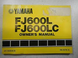 84 Yamaha FJ600 Oem Original Driver's Owner's Utilisateur Manuelle Fj 600 - $63.09
