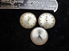 LOT OF 3 VINTAGE JULES JURGENSEN WATCH MOVEMENTS FOR REPAIR OR PARTS ONLY - $91.92