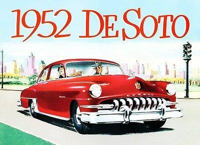 Primary image for 1952 DeSoto Custom - Promotional Advertising Poster