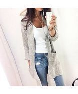 Women Long Sleeve Oversized Loose Knitted Sweater Jumper Cardigan Outwea... - £12.29 GBP