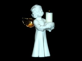 Singing Angel Holding a Candle AA19-1685 Vintage image 1