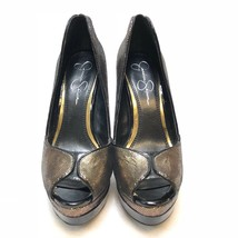 Jessica Simpson   Evette Tarnish Gold Leather Women's Pumps size 6.5 US - $38.52