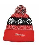 Budweiser Unisex Orange Winter Pom Hat, One Size NWOT - $12.86