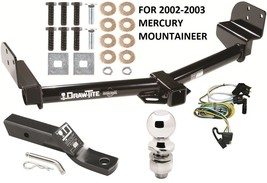 2002-2003 Mercury Mountaineer Complete Trailer Hitch Package W/ Wiring Kit New - $262.06