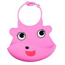 Lovely Pink Fox Adjustable Waterproof Silicone Baby Bib Pocket Bib 2026 cm