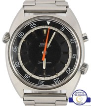 1968 / 69 Omega Seamaster Chronostop Stainless Steel Black 41.0mm Watch ... - $2,493.42