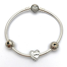 "Pandora Tribute to Mom Bracelet Gift Set, B800515-19, New in Box, Size 7.5"" - $168.14"