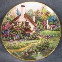 A Cozy Glen Collector Plate Violet Schwenig Franklin Mint Porcelain Cottage - $17.95