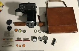 Vintage Polaroid Land Camera Model Magn with Light Original Case Key Acc... - $140.24