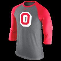 Ohio State Buckeyes Mens Nike TRI-BLEND Logo Raglan 3/4 Sleeve T-Shirt -... - $27.99
